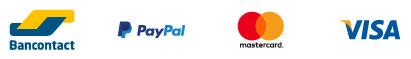 Bancontact - Paypal - Mastrcard - Visa