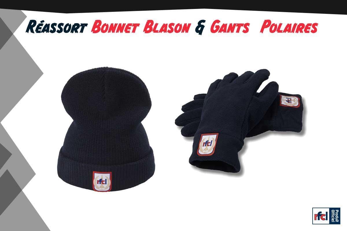 Réassort du Bonnet Blason et des Gants polaires